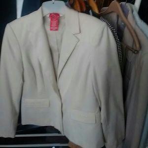 Oscar de la rents creme jacket